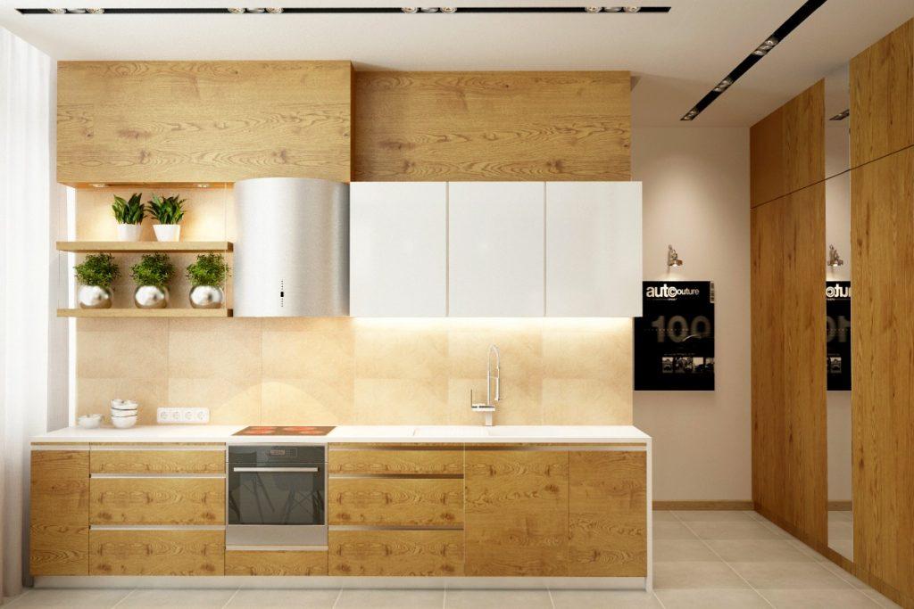 Kitchen set bergaya natural